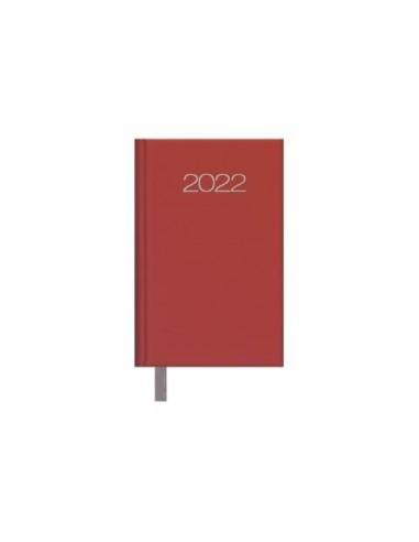 Agenda Semana vista Lisboa 8,5x13 Burdeos 2022