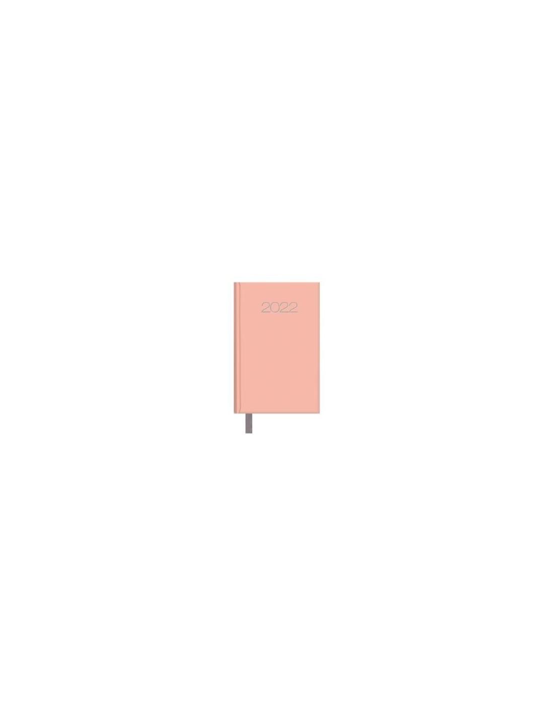 Agenda Semana vista Lisboa 8,5x13 Rosa cuarzo 2022
