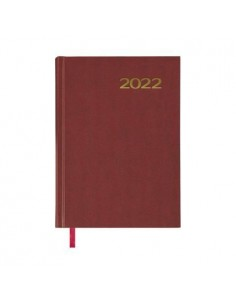 Agenda Día página Sintex 14x20 Burdeos 2022